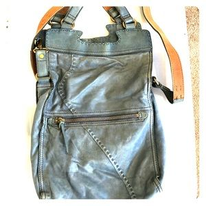 Lucky Brand blue leather bag